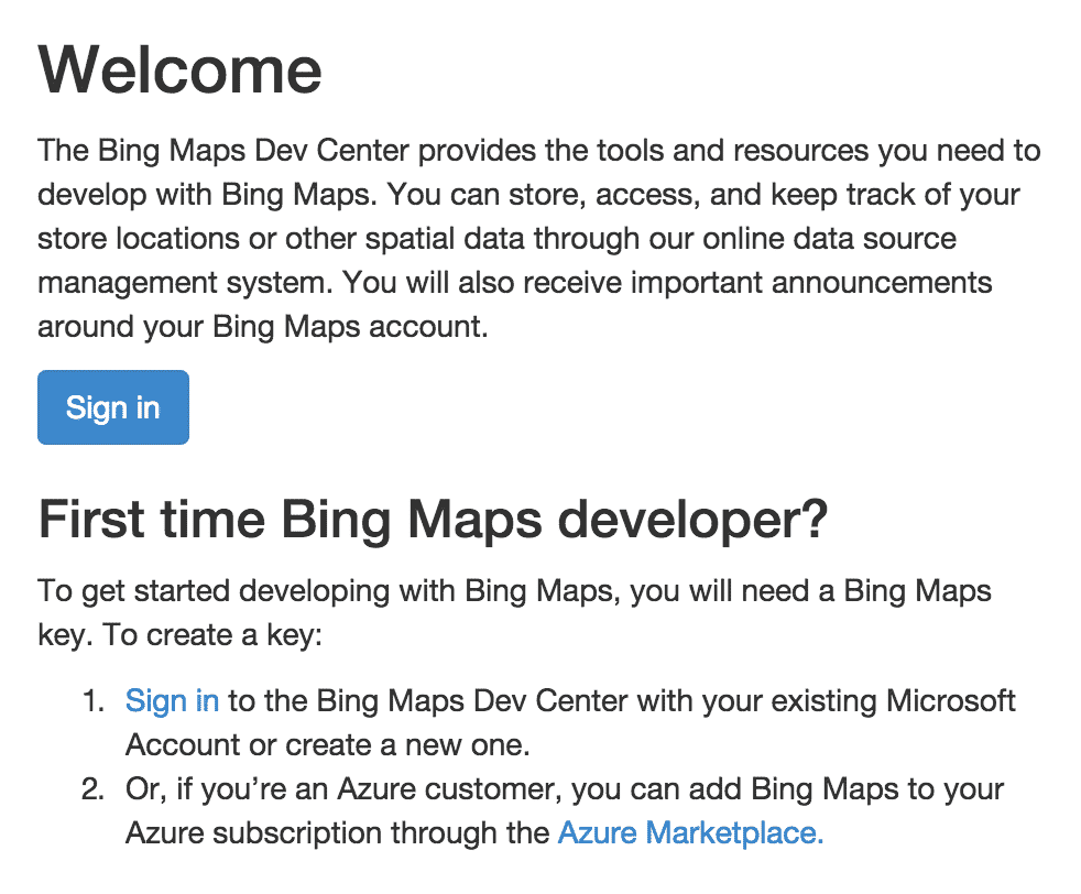 Signing up for a Bing Maps API Key - GravityView Support